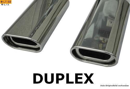 GESTEC Duplex Sportauspuff rechts-links BMW 3er E92 Coupé 318i/320i M-Optik 135x80 mm flachoval