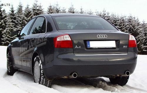 FOX Komplettanlage ab Kat Audi A4 Typ B6 (Limousine u. Avant) 2.0l 1.9l TDI rechts links je 1 x 80mm (RohrØ 55 - 2x50mm)