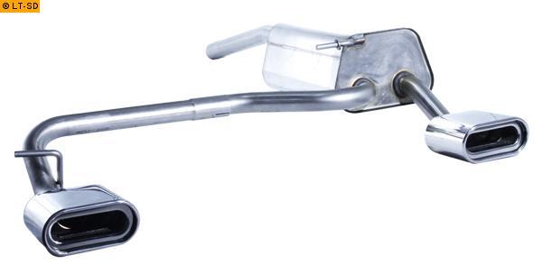 FOX Sportauspuff VW Caddy 3 ab Bj. 04 1.9l TDI - rechts links je 1 x 160x80mm flachoval