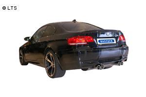 BASTUCK Sportauspuff inkl. Zubehör BMW M3 E90 Limousine 4.0l rechts links je 2 x 85mm RACE Look (AnschlussØ 70mm)