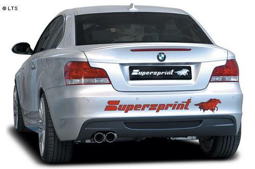 Supersprint Sportauspuff Endschalldämpfer 2x 80mm - BMW 1er E82 3.5l