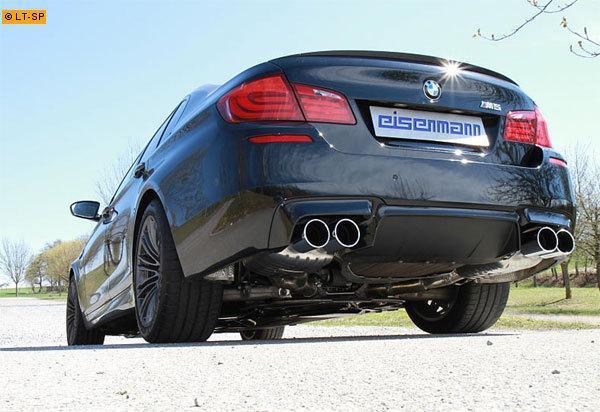 EISENMANN Sportauspuff BMW 5er F10 Limousine M5  rechts links je 2 x 102mm RACE Version
