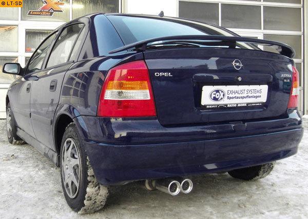 Auspuff Opel Astra G CC 1.4 16V 1.6 1.7TD 1.8 16V 2.0 Endtopf Nachschalldämpfer