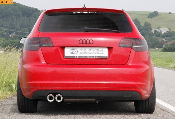 Fox Komplettanlage Audi A3 Typ 8p Quattro Sportback 1 8l 2 0l 3 2l