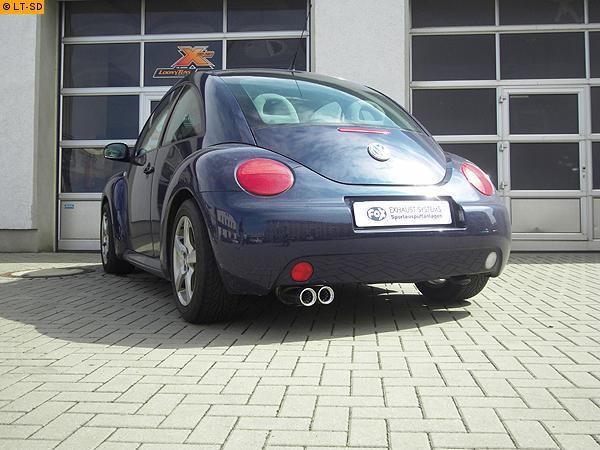 Cabrio 2 x 90mm Sportauspuff Endschalldämpfer für VW New Beetle